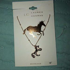 5/$25 Lauren Conrad unicorn necklace